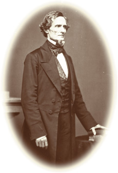 [photo: Jefferson Davis, president of the Confederate States of America]