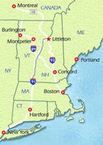 [map: Littleton Coin Company is located in Littleton, New Hampshire