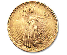 [photo: Saint-Gaudens $20 gold double eagle]