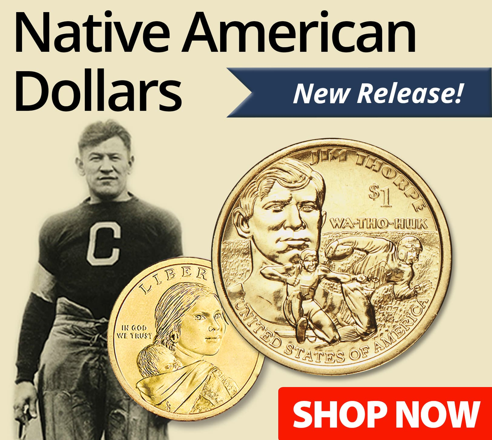 Native American Dollars - Featuring one-year-only designs! - Shop Now