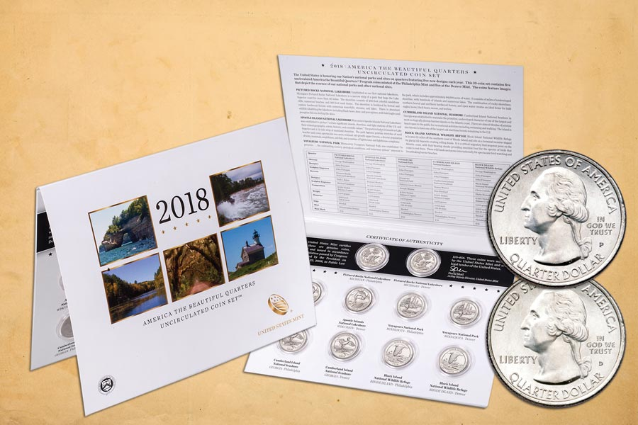 2018 P&D National Park Quarter Set in Card