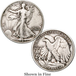 1942 Liberty Walking Half Dollar