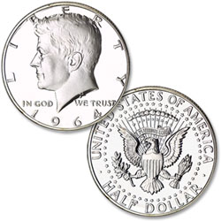 1964 Philadelphia Mint, 90% Silver Proof