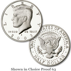 2003 San Francisco Mint, 90% Silver