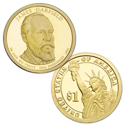2011-S James Garfield Presidential Dollar