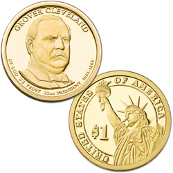 2012-S Grover Cleveland (Term 1) Presidential Dollar