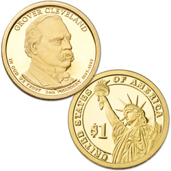 2012-S Grover Cleveland (Term 2) Presidential Dollar