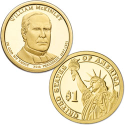 2013-S William McKinley Presidential Dollar