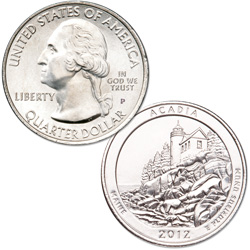 2012-P Acadia National Park Quarter