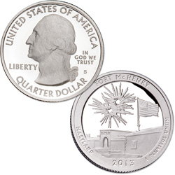 2013-S 90% Silver Fort McHenry National Monument and Historic Shrine Quarter