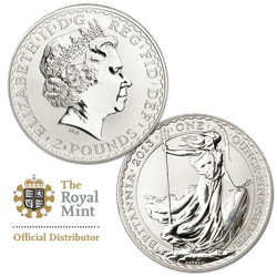 2013 Great Britain 1 oz. Silver £2 Britannia