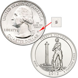 2013-S Unc. Perry's Victory & International Peace Memorial Quarter