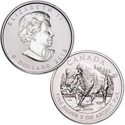 2013 Canada Silver $5 Wood Bison
