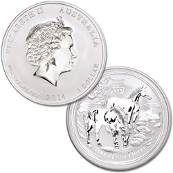 2014 Australia Silver $1 Year of the Horse
