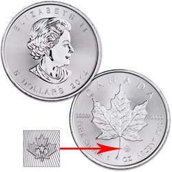 2014 Canada Silver $5 Maple Leaf