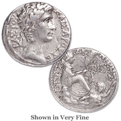 27 B.C. - A.D. 14 Augustus Silver Tetradrachm of Antioch, Year 27