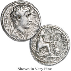 27 B.C. - A.D. 14 Augustus Silver Tetradrachm of Antioch, Year 26