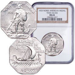 1925 Norse American Thick Silver Medal