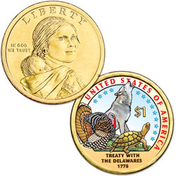 2013 Native American Dollar with Colorized Reverse