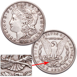 1878 Morgan Dollar, 7 Tail Feathers