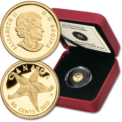 2013 Canada 1/25 oz. Gold 50 Cents Starfish