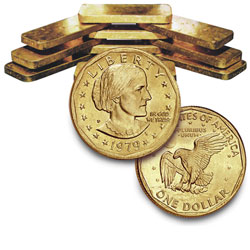 Gold Plated Dollar, date our choice