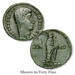 Constantine I Reduced Follis, Veiled