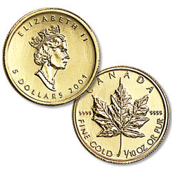 1/10 oz. Maple Leaf, date our choice