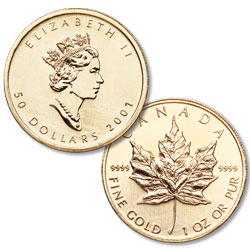 1 oz. Maple Leaf, date our choice