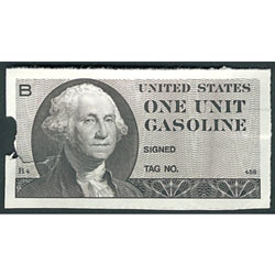 1974 Gas Ration Coupon