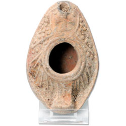 5th-7th Century A.D. Oil Lamp with Cross Design
