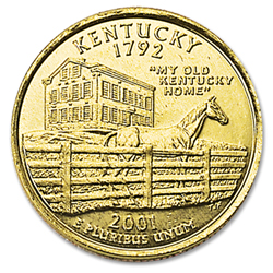 2001 Gold-Plated Kentucky Statehood Quarter