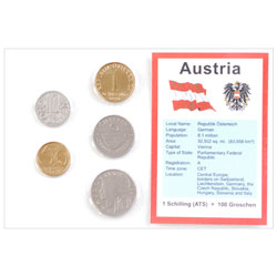 Austria Coins in Display Card