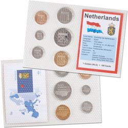 Netherlands Coins in Display Card