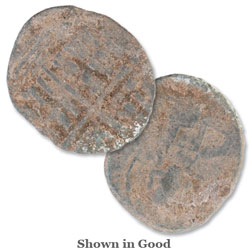 476-1453 Byzantine Coin, Copper