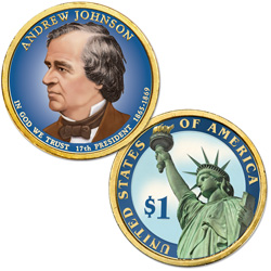 2011 Colorized Andrew Johnson Presidential Dollar