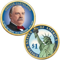 2012 Colorized Grover Cleveland (Term 1) Presidential Dollar