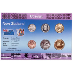 New Zealand Coin Set in Custom Holder