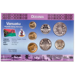 Vanuatu Coin Set in Custom Holder