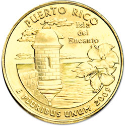 2009 Puerto Rico, Gold-Plated