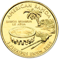 2009 American Samoa, Gold-Plated