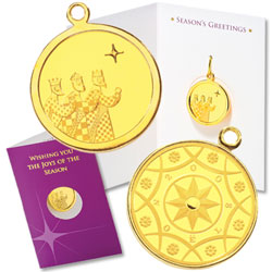 2008 Gold-Plated Three Kings Medallion