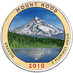 2010 Colorized Mount Hood National Forest Quarter