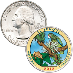 2012 Colorized El Yunque National Forest Quarter