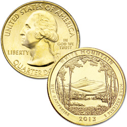 2013 Gold-Plated White Mountain National Forest Quarter