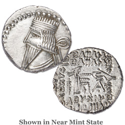 A.D. 105-147 Vologases III Silver Drachm
