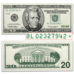 $20 Federal Reserve Star Note