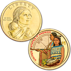 2014 Native American Dollar with Colorized Reverse
