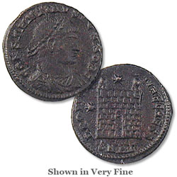 A.D. 337-340 Constantine II Reduced Follis