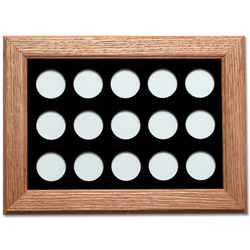 Solid Oak Coin Frame – Holds 15 Capsules
